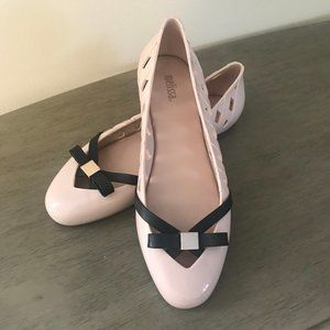 Melissa Blush Pink Ballet Flat with Bow